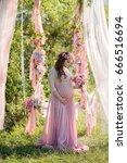 beauty of pregnancy   Shutterstock . vector #666516694