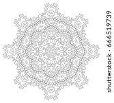 mandala isolated design element ...   Shutterstock .eps vector #666519739