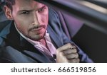handsome fashion man driving a... | Shutterstock . vector #666519856