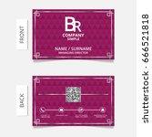 business card modern design... | Shutterstock .eps vector #666521818