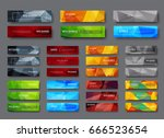 set of horizontal web banners... | Shutterstock .eps vector #666523654