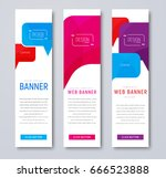 set of web banners with colored ... | Shutterstock .eps vector #666523888