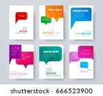 set of a4 covers with multi... | Shutterstock .eps vector #666523900