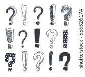 grunge doodle sketch... | Shutterstock .eps vector #666526174