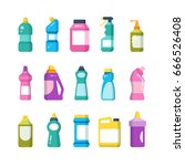 cleaning household products.... | Shutterstock .eps vector #666526408