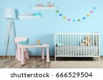 interior of colorful playing...   Shutterstock . vector #666529504