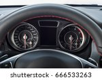 car interior dashboard details | Shutterstock . vector #666533263