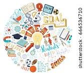 vector illustration concept of... | Shutterstock .eps vector #666536710