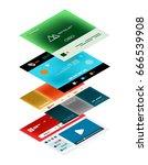 vector web site page design... | Shutterstock .eps vector #666539908