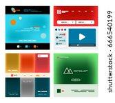 vector web site page design...