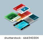 vector web site page design... | Shutterstock .eps vector #666540304