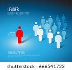 team leader concept... | Shutterstock .eps vector #666541723