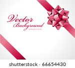 gift pink bow vector background | Shutterstock .eps vector #66654430