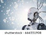 3d rendering robot learning or... | Shutterstock . vector #666551908