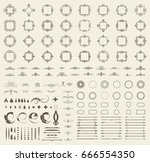circle and square wicker... | Shutterstock . vector #666554350