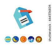 vector label icon   Shutterstock .eps vector #666556834