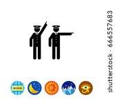 two policemen icon | Shutterstock .eps vector #666557683
