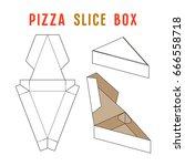 stock vector box for pizza... | Shutterstock .eps vector #666558718