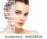 beautiful woman portrait beauty ... | Shutterstock . vector #666558928