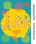 juice  hand   lettering  bits...   Shutterstock .eps vector #666559000