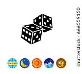 two dice icon | Shutterstock .eps vector #666559150