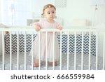 cute little girl standing in...   Shutterstock . vector #666559984