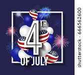 4th of july celebration... | Shutterstock .eps vector #666562600