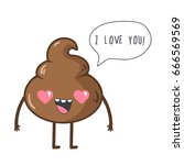 """cute poop say """"i love you"""".... 