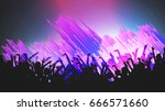 party people crowd  festive... | Shutterstock .eps vector #666571660