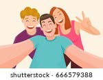 Group Of Three Friends Taking ...