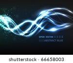 eps10 vector abstract blue line ... | Shutterstock .eps vector #66658003