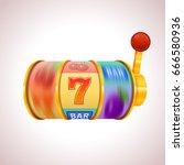 golden slot machine wins the...   Shutterstock .eps vector #666580936