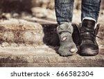 poverty concept. poor woman... | Shutterstock . vector #666582304