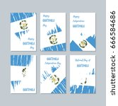 guatemala patriotic cards for... | Shutterstock .eps vector #666584686