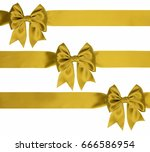 three gold bow with diagonal... | Shutterstock . vector #666586954
