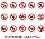 isolated prohibited icon sign... | Shutterstock .eps vector #666589420