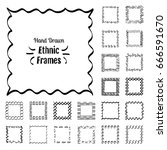 ethnic patterns or frames....   Shutterstock .eps vector #666591670