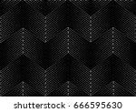 geometric strip  pattern.  ... | Shutterstock .eps vector #666595630