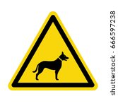 beware of dog sign. symbol ... | Shutterstock .eps vector #666597238
