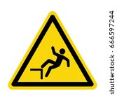 fall warning sign. symbol ... | Shutterstock .eps vector #666597244
