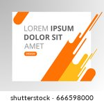 vector abstract design banner... | Shutterstock .eps vector #666598000