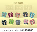 Summer Flip Flops Set  Sticking ...