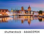 old town in gdansk and catwalk...   Shutterstock . vector #666603904