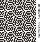 vector seamless pattern. modern ... | Shutterstock .eps vector #666608050