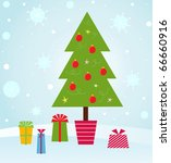 christmas tree | Shutterstock .eps vector #66660916
