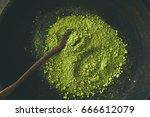japanese matcha green tea...   Shutterstock . vector #666612079