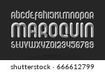 set of stylized alphabet... | Shutterstock .eps vector #666612799