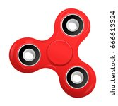 hand spinner flat vector... | Shutterstock .eps vector #666613324