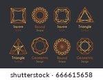abstract logo or emblems set...   Shutterstock .eps vector #666615658