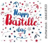 happy bastille day celebration... | Shutterstock .eps vector #666618523